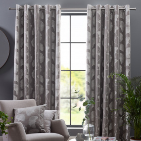 "Belfield Gingko Steeple Grey 90"" x 72"" Curtains"