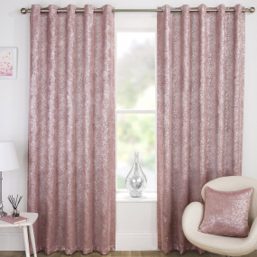 Halo Pink 66x54 Eyelet Curtains