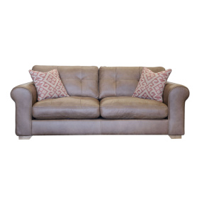 Hampshire Indiana Tan Leather Midi Sofa