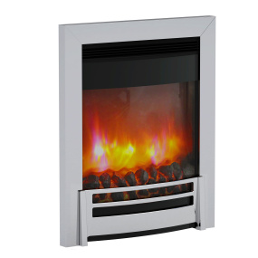 Brampton Inset Electric Fire with Chrome Trim
