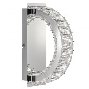 Wofi Anesa Chrome Small Wall Light