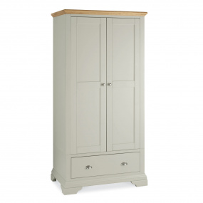 Henley Soft Grey and Oak Double Wardrobe