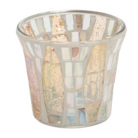 Yankee Candle Gold Wave Mosaic Votive Holder
