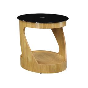 Jual JF304 Curve Oak Oval Side Table