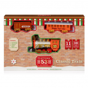 11 Piece Battery Operated Christmas Train Set   Housing Units