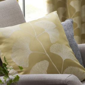 Belfield Ginkgo Ochre Cushion