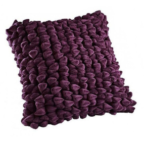 Dreamweavers Aubergine Pebble Cushion