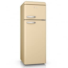 Swan Retro Cream Top Mounted Fridge Freezer