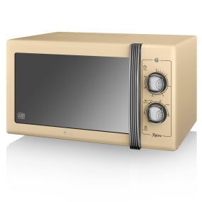 Swan Retro Cream 900W Manual Microwave