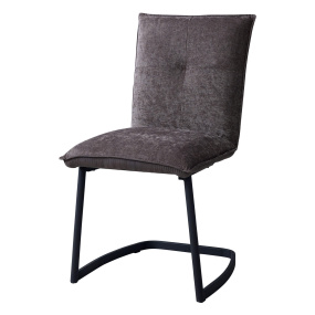 Alicante Brown Fabric Dining Chair - Angled | Housing Units