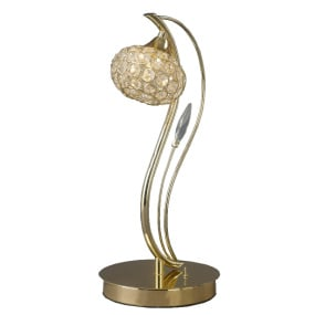 Leimo Table Lamp 1 Light Polished Gold and Crystal