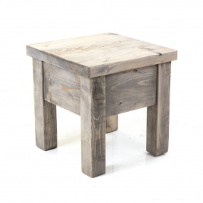 Narva Reclaimed Timber Grey Side Table