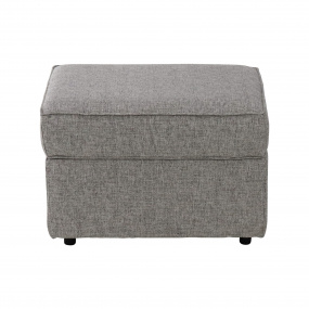 Clarendon Rectangular Grey Fabric Storage Footstool - Front | Housing Units