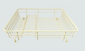 Medium Cream Coated Steel Dish Drainer