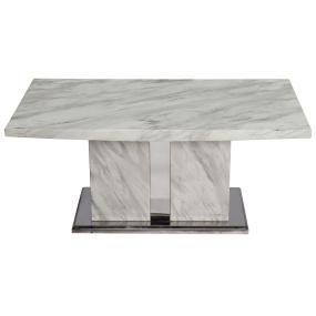 Montero White Marble Coffee Table