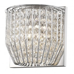 Carlo Crystal & Chrome 1 Light Wall Light