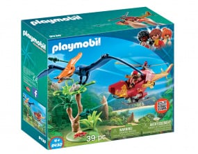 Playmobil Helicopter with Pterosaur
