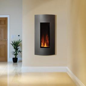 Gazco Studio 22 Verve Graphite Electric Fire Front