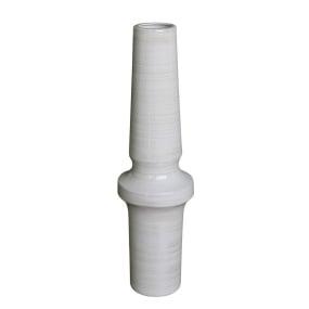 Large Decorative Shiny White Marble Vase
