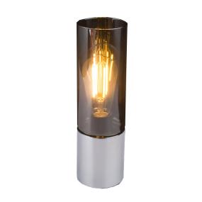 Globo Annika Chrome & Smoked Glass Table Lamp