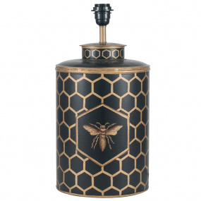 Black Honeycomb Hand Painted Table Lamp Base