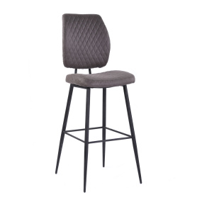 Jenny Grey Fabric Bar Stool