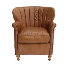 Kelvin Satchel Latte Leather Armchair