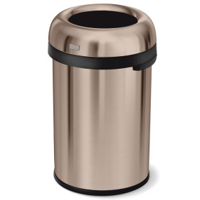 Simplehuman 115 Litre Rose Gold Bullet Open Top Bin