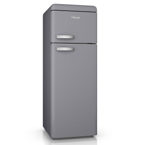 Swan Retro Grey Top Mounted Fridge Freezer