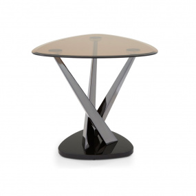 Lana Smoked Glass Side Table