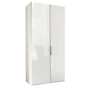 Torino White High Gloss 2 Door 239cm Wardrobe