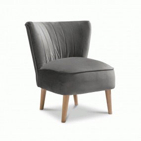 Plush Steel Accent Emperor Chair
