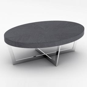 Zinc Oval Slate Grey Coffee Table