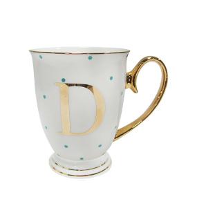 Alphabet Spotty Mug - D