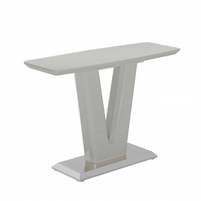 Vigo High Gloss Grey Console Table