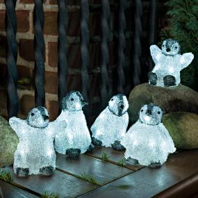 LED 5 Piece Acrylic Penguin Set