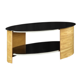 Jual JF301 Curve Oak Coffee Table