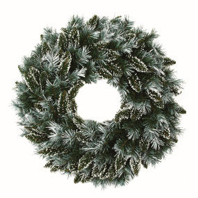 60cm Snow Tipped Christmas Wreath | Housing Units