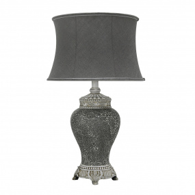 Abri Grey Sparkle Large Table Lamp and Shade