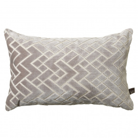 Scatter Box Fracture Grey Boudoir Cushion