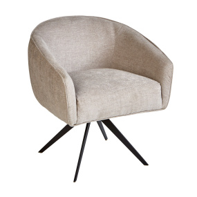 Cleo Grey Fabric Accent Chair