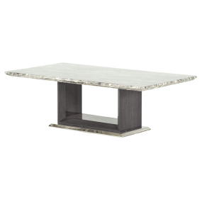 Pescara Grey Marble Coffee Table - Angled | Housing Units