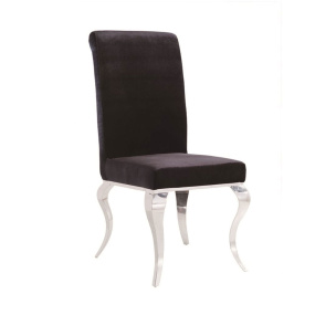 Louis Black Fabric Dining Chair