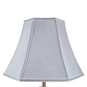 35cm Grey Polysilk Bowed Light Shade