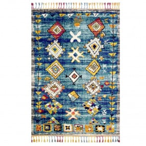 Marrakech Turquoise and Grey Rug 160 x 230cm | Housing Units