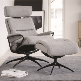 Stressless Tokyo Star Chair with Adjustable Headrest