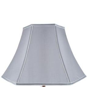 50cm Grey Polysilk Bowed Light Shade