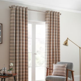 Belfield Rio Ochre 66x72 Curtains