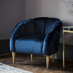 Flanders Atlantic Velvet Accent Chair