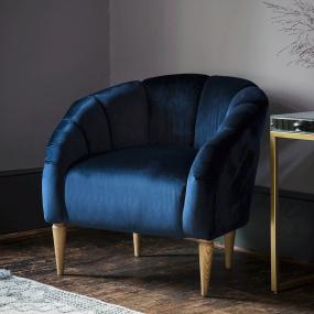 Flanders Atlantic Velvet Accent Chair